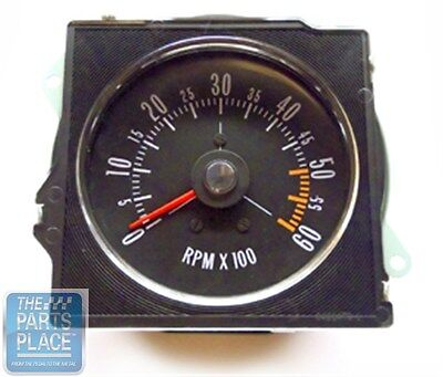 1970-72 Buick GS New Dash Tach With Pointed Lens - Factory Metal Housing