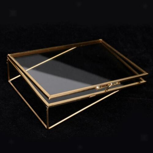 Vintage Style Glass Freestanding Picture Photo Frame Portrait Holder Table Decor