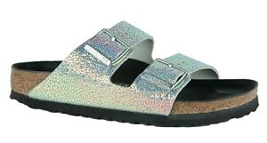 52ff5fab2d7 Image is loading Birkenstock-Sandals-Arizona-Lux-Ombre-Pearl-woman-silver-