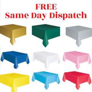 Plastic-Tablecovers-Table-Housse-en-tissu-Parti-Catering-evenements-vaisselle-54-034-X72-034