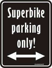 Blechschild 17 x 22 cm, Superbike Tarking only, Werbeschild RAHMENLOS® Art. 3564