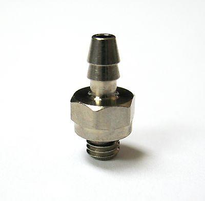 """1pc Nickel Plated Brass 0.17/"""" ID Hose Barb x 10-32 UNF MettleAir 125NP-017U10-DB"""