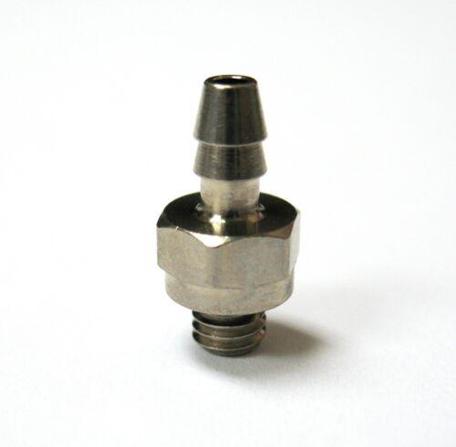 """1pc Nickel Plated Brass 1//8/"""" ID Hose Barb x 10-32 UNF MettleAir 125NP-2U10-DB"""