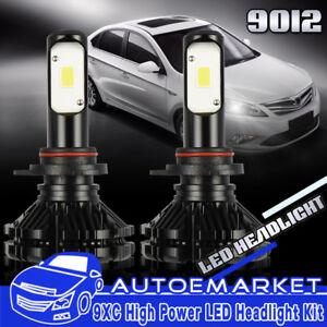 2pcs 9012 LED Headlight Bulb Kit for Cadillac ATS 13-17 Buick Regal 2014-2017