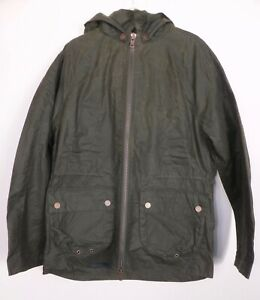 New Mens' Boden Olive Green Holt Wax Jacket Detachable Hood Size XS-L RRP £150