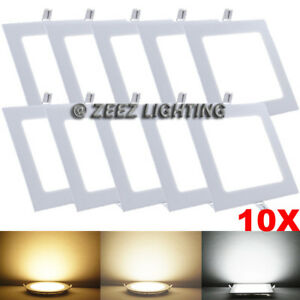 """10X 6W 4"""" Square Cool White LED Recessed Ceiling Panel Light Bulb Lamp Fixture"""