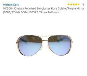 83146167f7 Michael Kors MK 5004 (Chelsea) Polarized 100325 Rose Gold w Blue ...