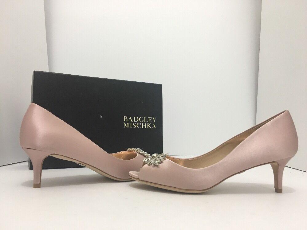 clienti prima reputazione prima Badgley Mischka Layla Layla Layla Blush Satin Donna  Evening Peep Toe Heels Pumps Dimensione 6.5  acquista la qualità autentica al 100%