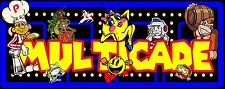 "NEW DESIGN Arcade Classics marquee Multicade Art sticker  16"" × 4"""