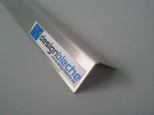 Edelstahl 1000mm L-Profile 0,8mm Leiste Wandprofile magnetisch VA Winkeleisten