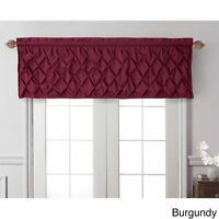 Victoria Classics Carmen Burgundy Pleated Valance With Lining