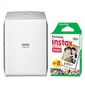 Fujifilm-Instax-SHARE-Smartphone-Fuji-Instax-Printer-SP-2-Silver-20-Instant-Film