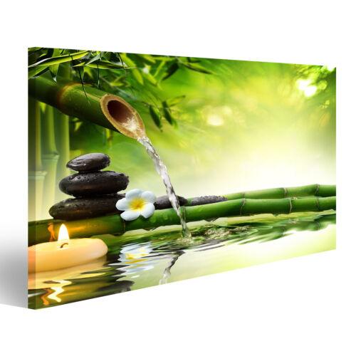 Bild Bilder auf Leinwand Spa steine im Garten mit Flusswasser MZB-1K-DE