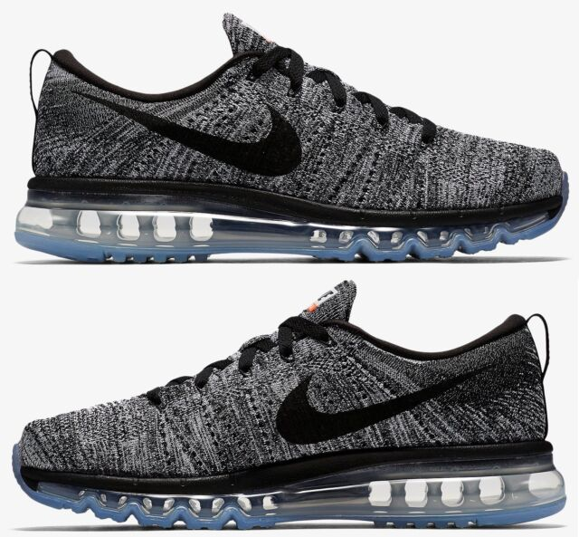 best sneakers e9a4b ca48c NIKE FLYKNIT AIR MAX MENs RUNNING M MESH WHITE - BLACK - COOL GREY  AUTHENTIC SZ