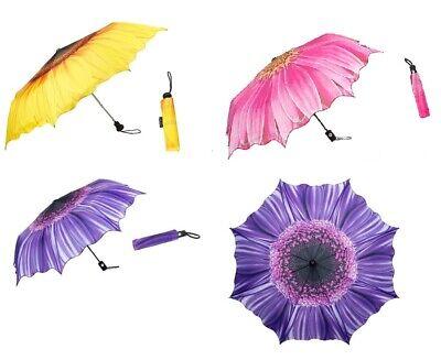 Borse Ombrellone Ombrello Compatto Pieghevole Rosa Anemone Sole Fiore Giallo Dahlie Viola-mostra Il Titolo Originale Design Moderno