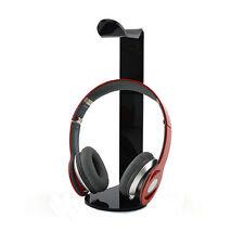 Acrylic Earphone Headset Hanger Holder Headphone Desk Display Stand Rack Black