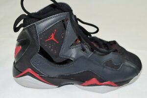 95969438986b6 Details about Nike Boys Sz 4.5 Air Jordan True Flight Kids Black Gym Red  Wolf Grey 343795-002