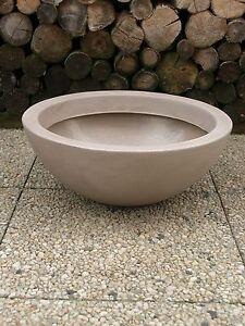 Pflanztopf-Grabschale-Pflanzschale-Blumenschale-52cm-PVC-taupe-sandfarben