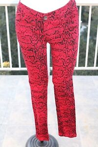B e in nera serpente a figura in stampa denim 1 Jeans pitone intera Misura Klique rossa con denim IW6naqEnA