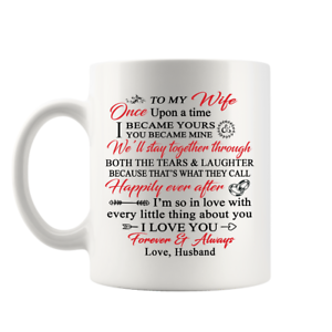 To My Wife Coffee Mug From Husband Gifts For Wife I Love You Always And Forever