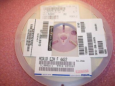 QTY 5000 0603 10K Ohm 1//10W 1/% SMD CHIP RESISTORS MCR03EZHMF1002 ROHM