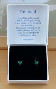 925-Emerald-Lab-Created-Heart-Stud-Earrings-Sterling-Silver-Emerald-Earrings-UK