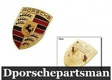 porsche 911 boxster cayenne cayman hood emblem new. Black Bedroom Furniture Sets. Home Design Ideas