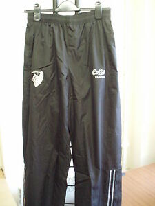 LEICESTER-TIGERS-BLACK-RAIN-PANTS-38-034-WAIST-33-034-INSEAM-BY-COTTON-TRADERS-NEW