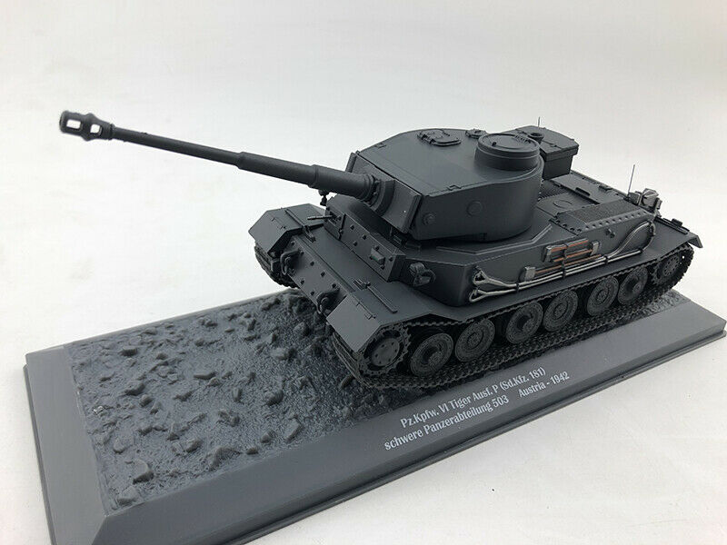 WWII AUSTRIA PZ KPFW VI TIGER AUSF P SD KFZ 181 1 43 DIECAST MODEL FINISHED TANK