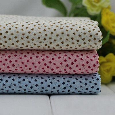 1 PCS Cotton Fabric Pre-Cut Plain Cotton cloth Fabric for Sewing  3 Colour H02