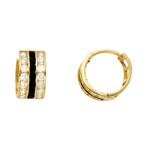14kt Yellow Gold Lady/'s Oval Onyx Earrings at a Fabulous Price.