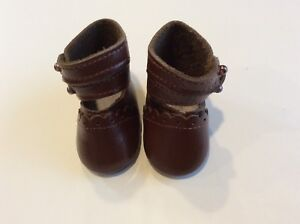 """2 1//4"""" Light Brown Leather Boots for Antique Repro or Modern Doll"""