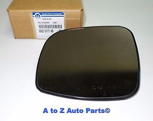 NEW DRIVER SIDE MIRROR GLASS FITS GRAND CARAVAN TOWN AND COUNTRY 08-16 CH1324107