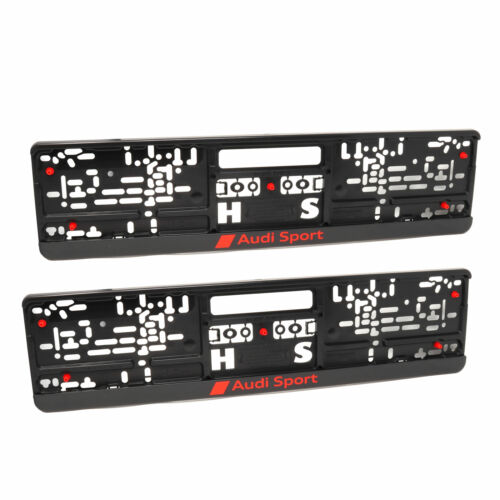 Audi Sport Support de plaque d/'immatriculation Plaque support 2 Pièce Set 3291900100
