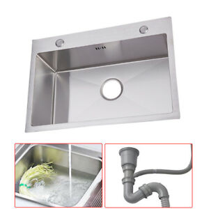 Image Is Loading Stainless Steel Kitchen Sinks Drainer Cupboard Bowl Wash