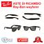 Aste-di-Ricambio-RAY-BAN-RB-2140-WAYFARER-OCCHIALI-DA-SOLE-OCCHIALE-RAYBAN miniatura 1