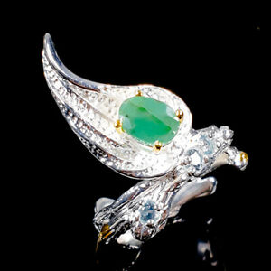Jewelry-Set-Unique-Natural-Emerald-925-Sterling-Silver-Ring-Size-6-5-R99193