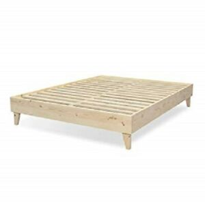 Platform Bed Frame 100 North American Pine Solid Wood