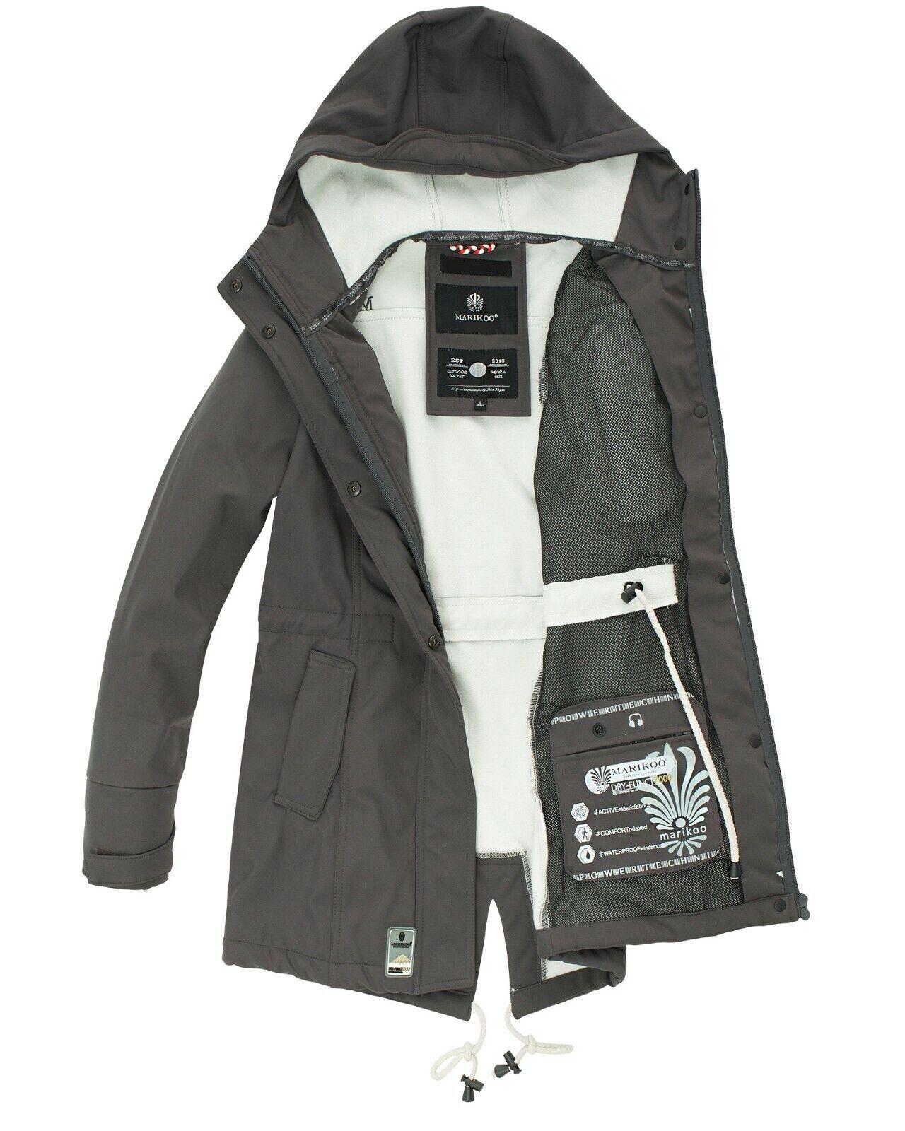 Details about Marikoo Damen Winter Softshell Jacke Outdoor Funktion Windbreaker Zimtzicke