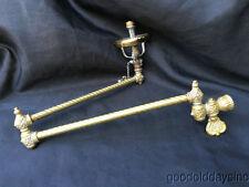 Antique Victorian Brass Wall Sconce Bath Room Gas Light  Folding Arm