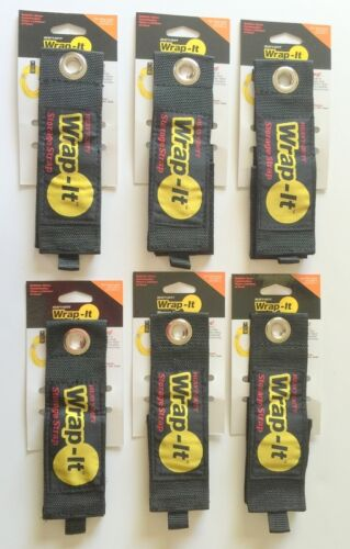6 X-Large  Wrap-It Heavy Duty Storage Straps to Hang Items on Hooks /& Pegboard