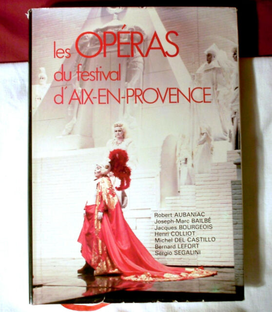 Les Operas Festival Aix En Provence 1982 Book France French Opera Music hc w/ dj