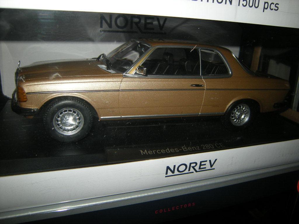 1 18 NOREV Mercedes-Benz 280 CE w123 Coupè oroen oro in scatola originale
