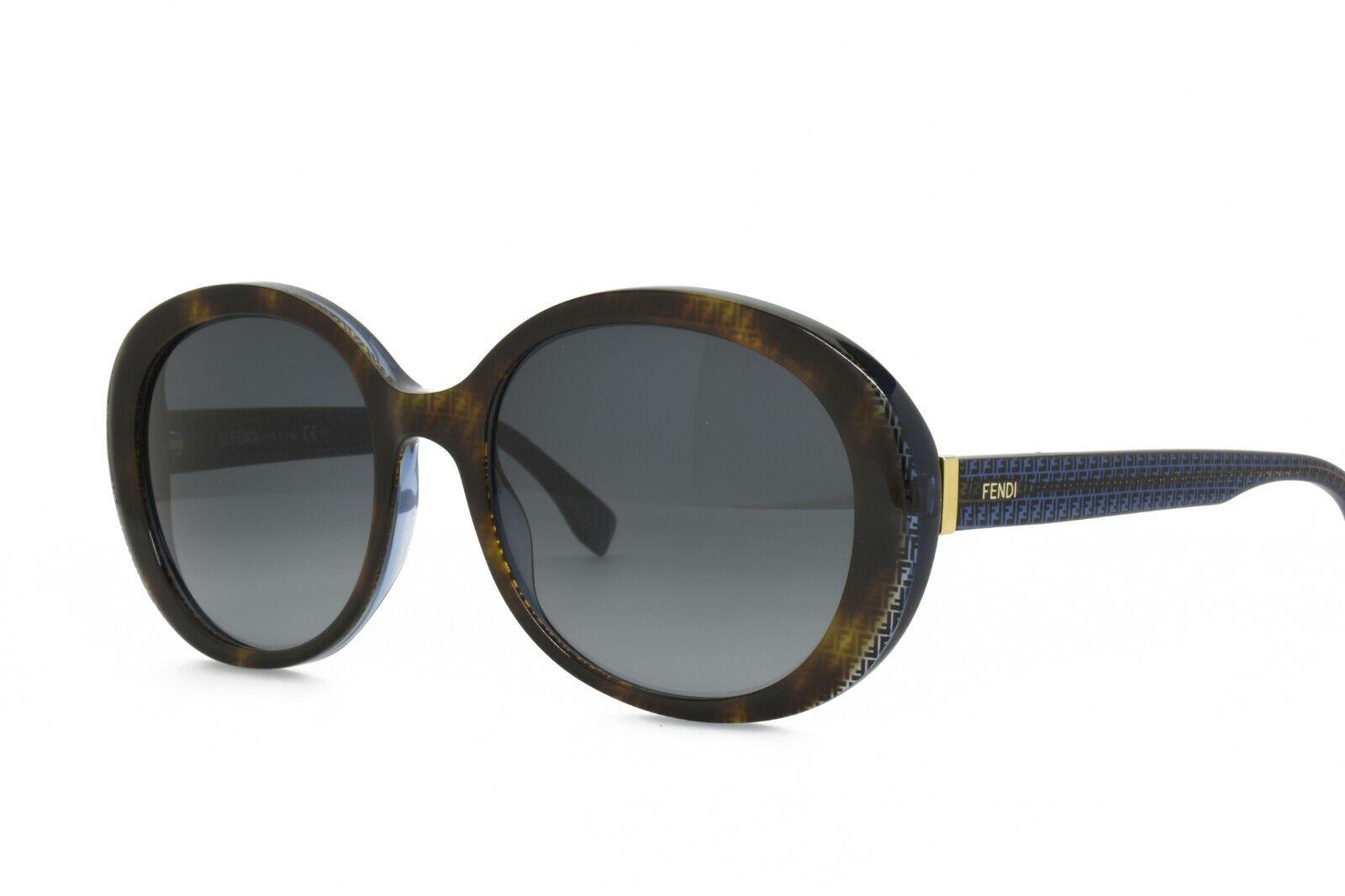 Fendi 0001/S 7OYHD New Authentic Sunglasses 55-19-140 Brown Blue