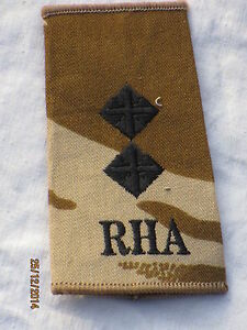 lineas-de-rango-Teniente-RHA-Royal-Horse-artilleria-DESERT-PIEZA-UNICA