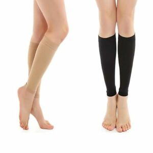 9fca4b5d56 Image is loading Unisex-Knee-High-Compression-Socks-Support-Stockings-Open-
