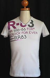 034-Re-Rock-034-Herren-T-Shirt-Slim-Fit-weiss-Druck-kurzarm-S-M-L-44-46-48-50-52-54-NEU