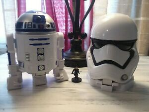 Star-Wars-Micro-Machines-Head-Playsets-Lot-of-2-Stormtrooper-R2-D2-toys