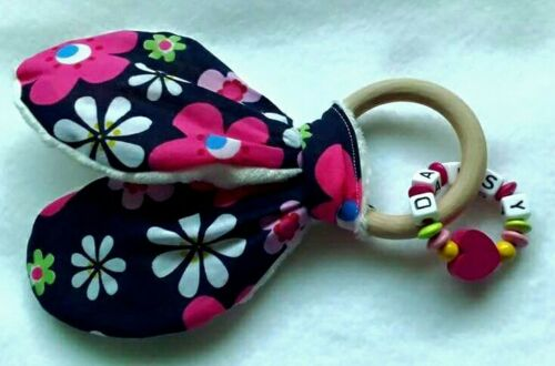 Personalised BABY GIRL WOODEN Teething Toy//Baby Poison