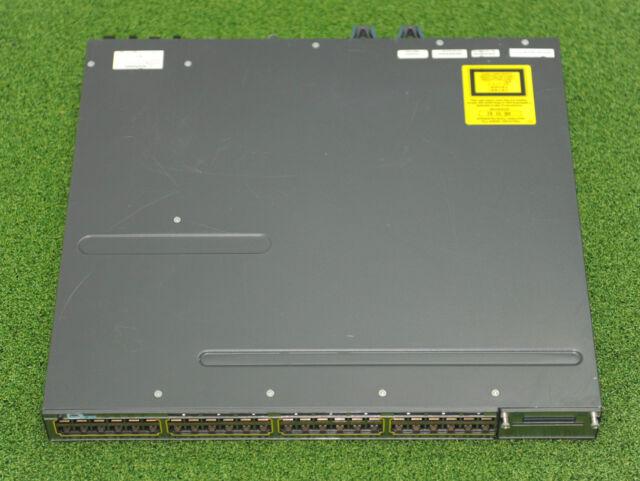 CISCO WS-C3750X-48P-S 3750X 48xGE POE Switch w/ C3KX-PWR-715WAC 1YrWtyTaxInv